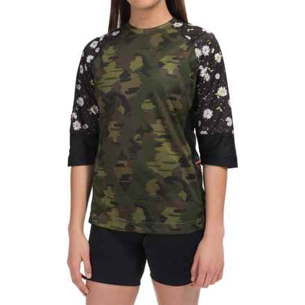 DaKine Xena Jersey - 3/4 Sleeve (For Women) in Camo - Closeouts