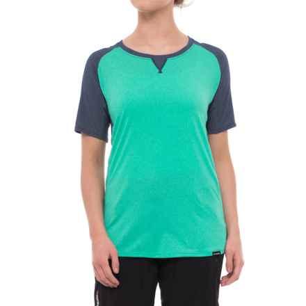 DaKine Xena Shirt - Short Sleeve (For Women) in Aqua Green/Crown Blue - Closeouts