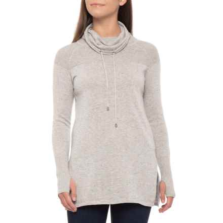 Dakini Cotton Yolk Texture Pullover Shirt - Cowl Neck, Long Sleeve (For Women) in Grey Heather - Closeouts