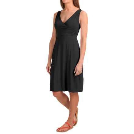 Dakini Faux-Wrap Modal Dress - Sleeveless (For Women) in Black - Closeouts