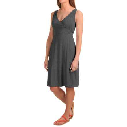 Dakini Faux-Wrap Modal Dress - Sleeveless (For Women) in Charcoal Heather - Closeouts