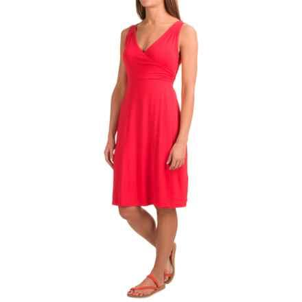 Dakini Faux-Wrap Modal Dress - Sleeveless (For Women) in Fiery Orange - Closeouts