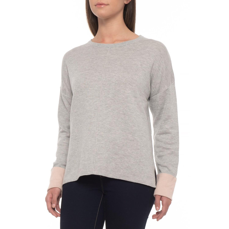 2a7395c10b3bf2 Dakini High-Low Sweater (For Women) in Grey Heather Blush Heather ...