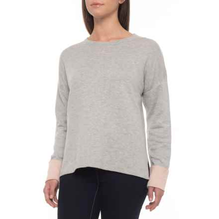 5116d12027de53 Dakini High-Low Sweater (For Women) in Grey Heather Blush Heather -