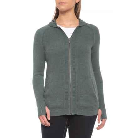 Dakini Hooded Cardigan Sweater - Full Zip (For Women) in Green Slate Heather - Closeouts