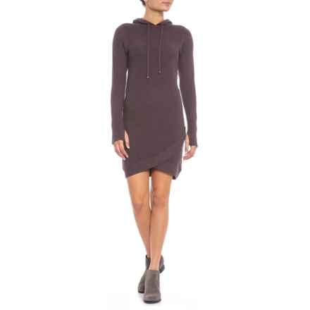Dakini Hooded Dress - Long Sleeve (For Women) in Raisin Heather - Closeouts