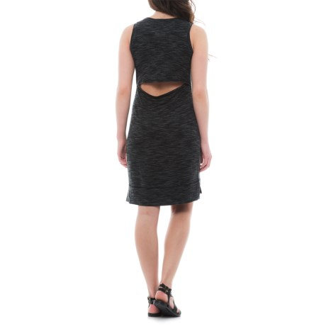 Dakini Open-Back Tank Dress - Sleeveless (For Women) in Black Space Dye