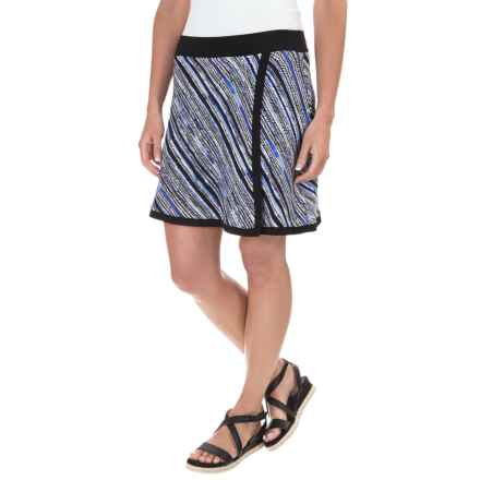 Dakini Printed Skort - Built-In Shorts (For Women) in Blue Combo - Closeouts