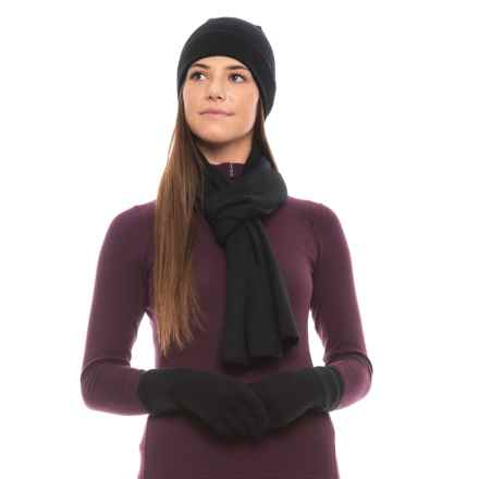 Dakini Recovery Yarn Hat, Glove and Scarf Set (For Women) in Black - Closeouts