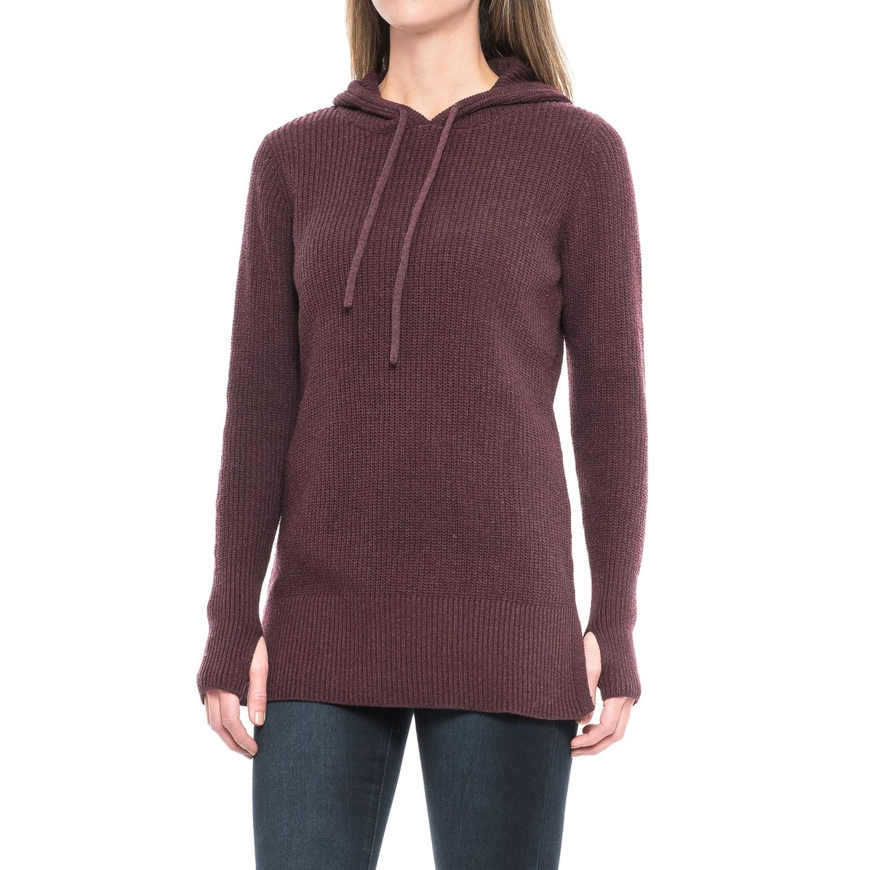 Dakini Shaker-Stitch Hooded Sweater (For Women) - Save 44%