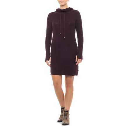 Dakini Shift Sweater Dress - Long Sleeve (For Women) in Raisin Heather - Closeouts