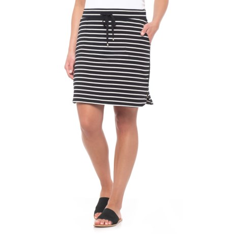 Dakini Short French Terry Drawstring Skirt (For Women) in Black/White