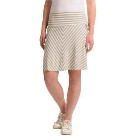 Dakini Side-Tie Rayon Skirt (For Women) in Heather Grey/Cream - Closeouts