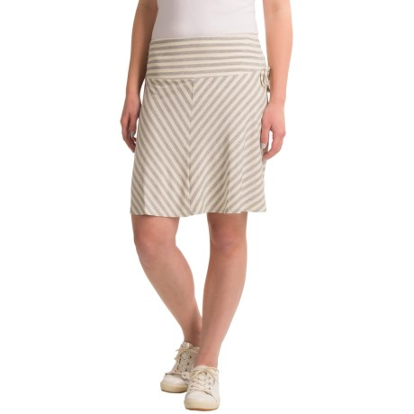 Dakini Side-Tie Rayon Skirt (For Women) in Heather Grey/Cream