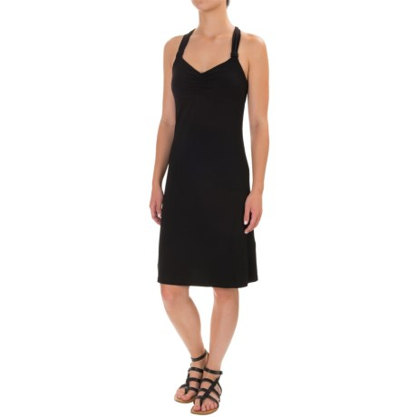 Dakini Solid Cinch-Strap Dress - Built-In Bra, Sleeveless (For Women)