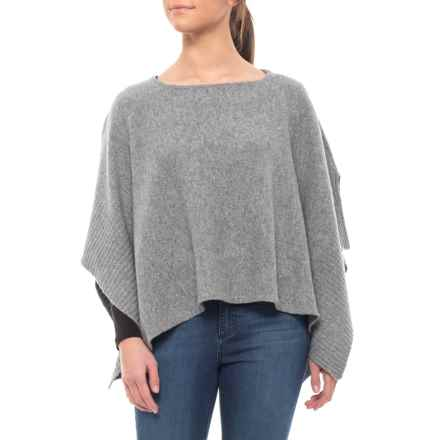 Dakini Square Jersey Poncho - Merino Wool (For Women) in Grey - Closeouts