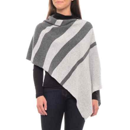 Dakini Striped Cashmere Topper (For Women) in Tonal Grey - Closeouts