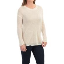 Dakota Collective Open Weave Angora Sweater (For Women) in Cream - Closeouts