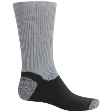Dakota Diabetic Work Socks - Crew (For Men) in Grey/Black - 2nds