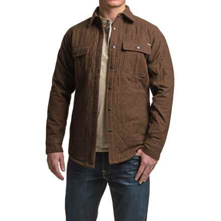 Dakota Grizzly Adam Shirt Jacket - Quilted Cotton, Insulated (For Men) in Chocolate - Closeouts