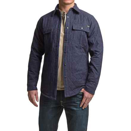 Dakota Grizzly Adam Shirt Jacket - Quilted Cotton, Insulated (For Men) in Iron - Closeouts