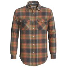 Dakota Grizzly Archer Flannel Shirt - Waffle Knit Lining, Long Sleeve (For Men) in Grey/Orange/Olive Plaid - Closeouts