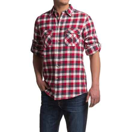 Dakota Grizzly Arlo Flannel Shirt - Long Sleeve (For Men) in Berry - Closeouts
