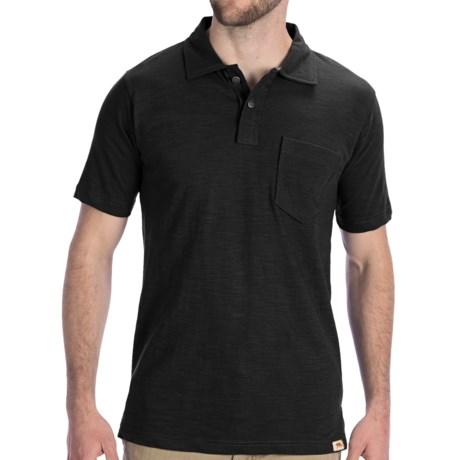 Dakota Grizzly Asher Polo Shirt - Short Sleeve (For Men) in Tar