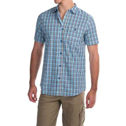 Dakota Grizzly Barton Shirt - Short Sleeve (For Men) in Stream - Closeouts