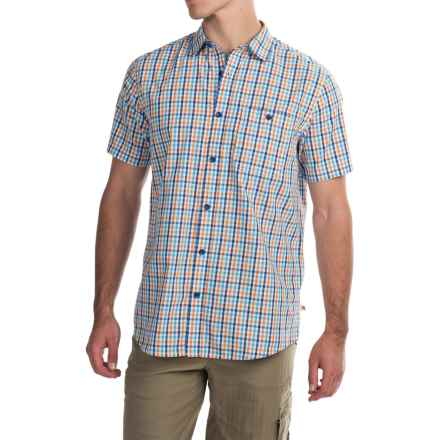 Dakota Grizzly Barton Shirt - Short Sleeve (For Men) in Tang - Closeouts