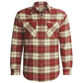 Dakota Grizzly Brawny Shirt - Flannel, Long Sleeve (For Men) in Salsa