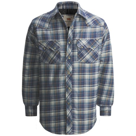 Dakota Grizzly Braxton Flannel Shirt - Long Sleeve (For Men) in Lava