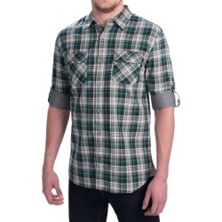 Dakota Grizzly Brewer Shirt - Cotton Gauze, Roll-Up Long Sleeve (For Men) in Cactus