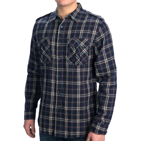 Dakota Grizzly Brewer Shirt - Cotton Gauze, Roll-Up Long Sleeve (For Men) in Dusk