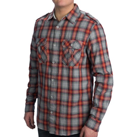 Dakota Grizzly Brewer Shirt - Cotton Gauze, Roll-Up Long Sleeve (For Men) in Mango