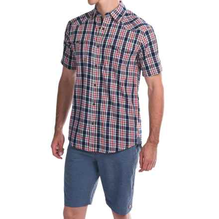 Dakota Grizzly Brodi Shirt - Snap Front, Short Sleeve (For Men) in Flag - Closeouts