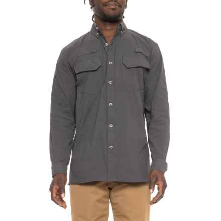 Dakota Grizzly Carbon Stretch Trail Shirt - UPF 30+, Long Sleeve ( For Men) in Carbon - Closeouts