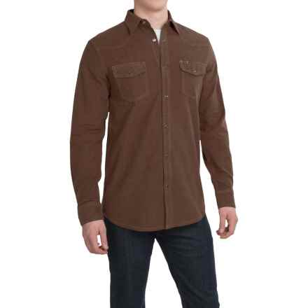 Dakota Grizzly Chet Western Shirt - Long Sleeve (For Men) in Chocolate - Closeouts
