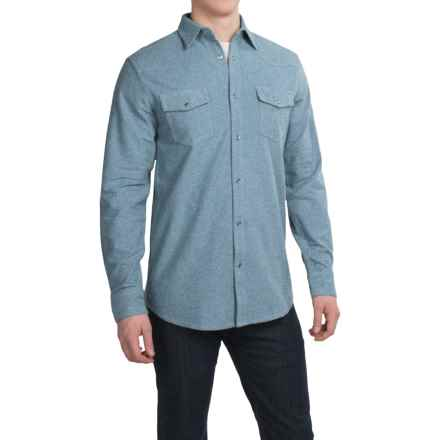 Dakota Grizzly Chet Western Shirt - Long Sleeve (For Men) in Rain - Closeouts