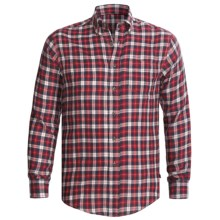 Dakota Grizzly Clark Plaid Shirt - Flannel, Long Sleeve (For Tall Men) in Red - Closeouts