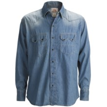 Dakota Grizzly Clyde Denim Snap Shirt - Long Sleeve (For Men) in Denim - Closeouts