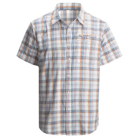 Dakota Grizzly Cody Plaid Shirt - Short Sleeve (For Men) in Tang