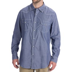 Dakota Grizzly Colby Western Shirt - Cotton Chambray, Long Sleeve (For Men) in Rain