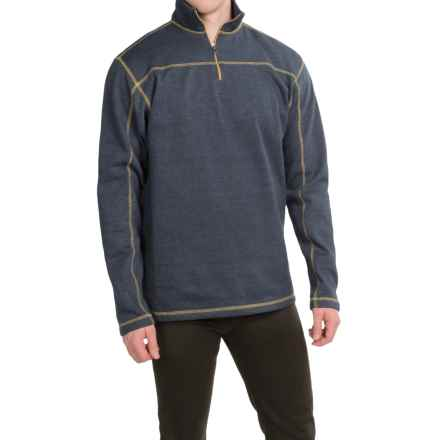 Dakota Grizzly Colton Sweatshirt - Zip Neck (For Men) in Navy - Closeouts