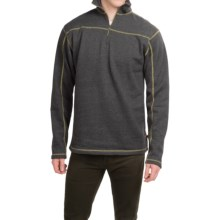 Dakota Grizzly Colton Sweatshirt - Zip Neck (For Men) in Tar - Closeouts