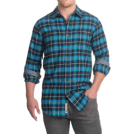 Dakota Grizzly Easton Flannel Shirt - Long Sleeve (For Men) in Azure - Closeouts