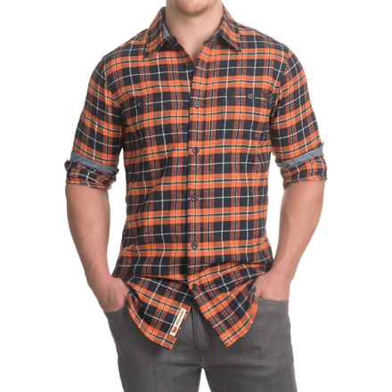 Dakota Grizzly Easton Flannel Shirt - Long Sleeve (For Men) in Carrot - Closeouts
