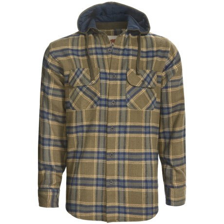 Dakota Grizzly Edison Flannel Hoodie (For Men) in Olive