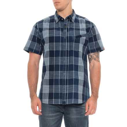 Dakota Grizzly Ellis Plaid Button-Down Shirt - Short Sleeve (For Men) in Ice - Overstock