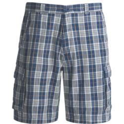 Dakota Grizzly Enzo Plaid Cargo Shorts (For Men) in Lake